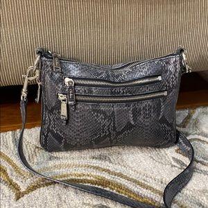 💕 Cole Haan snake skin black gray shoulder bag 💕